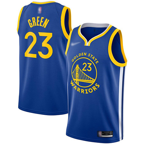 Warriors #23 Draymond Green Blue Basketball Swingman Icon Edition 2019-2020 Jersey