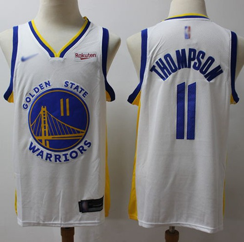Warriors #11 Klay Thompson White Basketball Swingman Association Edition 2019-2020 Jersey