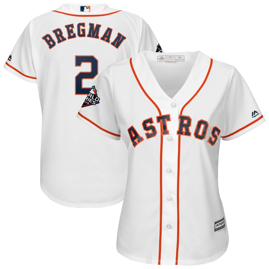 Astros #2 Alex Bregman White Women 2019 World Series Bound Cool Base Jersey