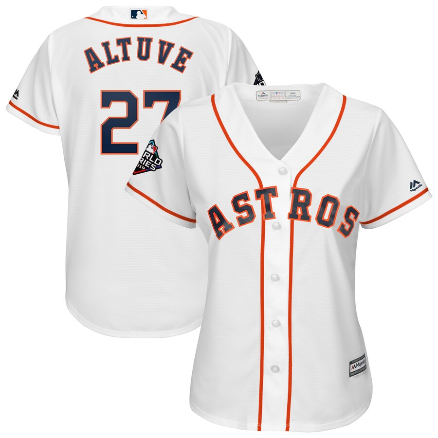 Astros #27 Jose Altuve White Women 2019 World Series Bound Cool Base Jersey