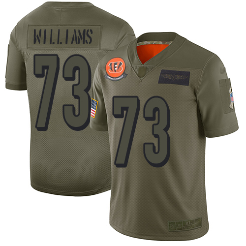 Nike Bengals #73 Jonah Williams Camo Men's Stitched NFL Limited 2019 Salute To Service Jersey