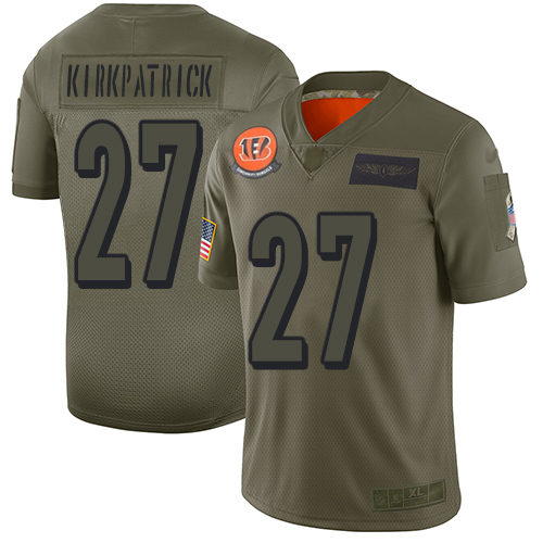 Nike Bengals #27 Dre Kirkpatrick Camo Men's Stitched NFL Limited 2019 Salute To Service Jersey