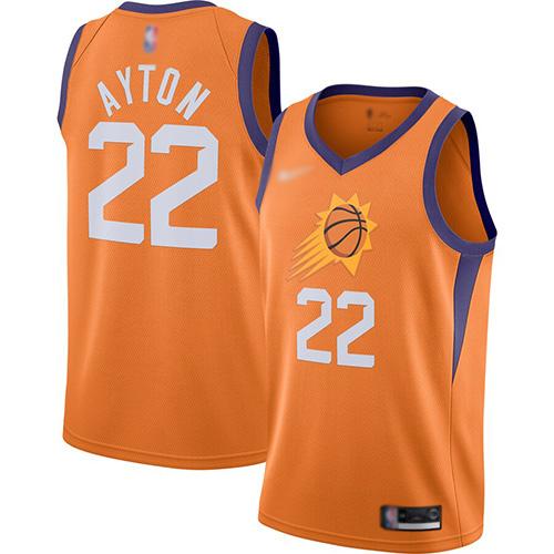 Suns #22 Deandre Ayton Orange Basketball Swingman Statement Edition 2019-2020 Jersey