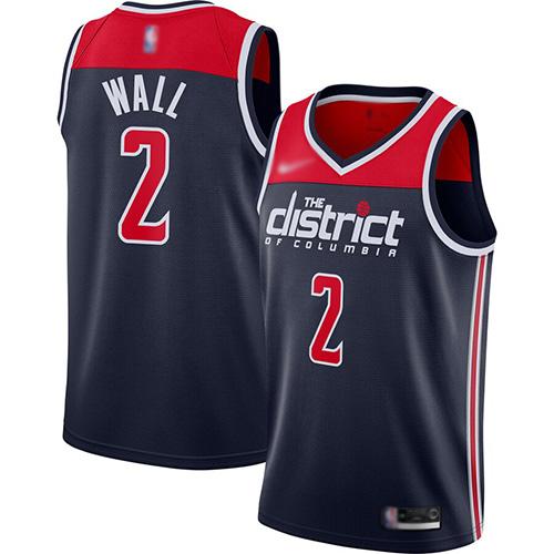 Wizards #2 John Wall Navy Blue Basketball Swingman Statement Edition 2019-2020 Jersey