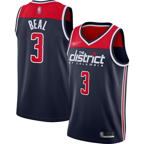Wizards #3 Bradley Beal Navy Blue Basketball Swingman Statement Edition 2019-2020 Jersey