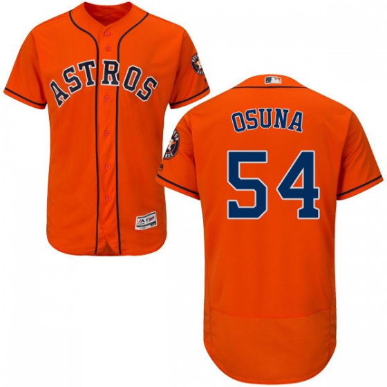 Men's Houston Astros Roberto Osuna Majestic Flex Base Alternate Collection OrangeJersey