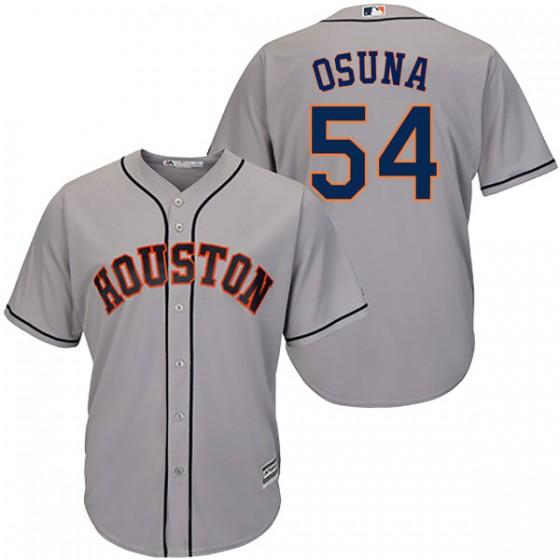 Men's Houston Astros Roberto Osuna Majestic Cool Base Road Gray Jersey