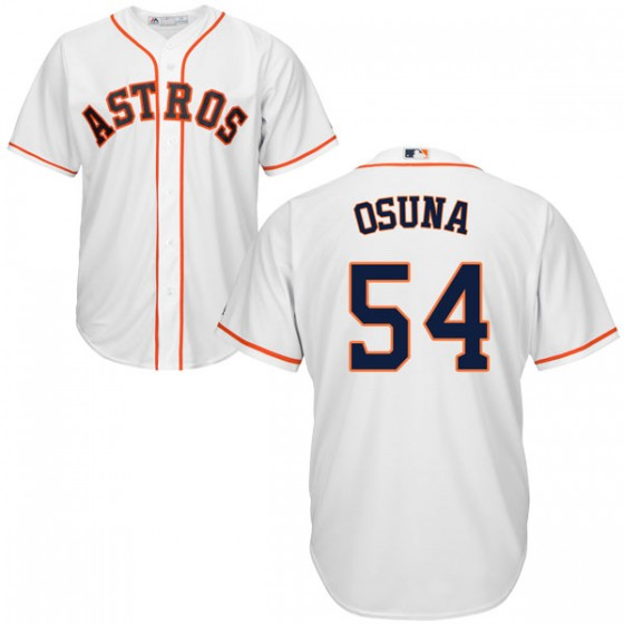 Men's Houston Astros Roberto Osuna Majestic Cool Base Home White Jersey