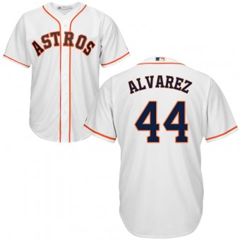 Men's Houston Astros #44 Yordan Alvarez Majestic Cool Base Home White Jersey