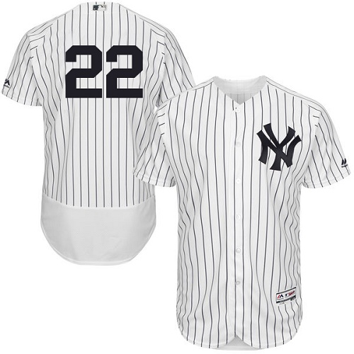 Yankees 22 Jacoby Ellsbury White Flexbase Jersey