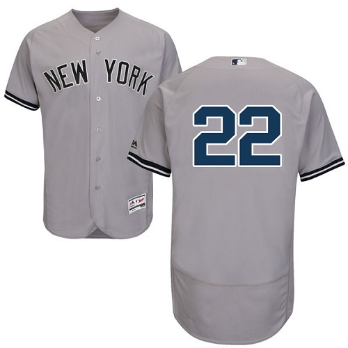 Yankees 22 Jacoby Ellsbury Gray Flexbase Jersey