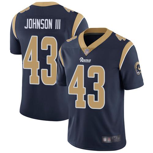 Rams #43 John Johnson III Navy Blue Team Color Men's Stitched Football Vapor Untouchable Limited Jersey