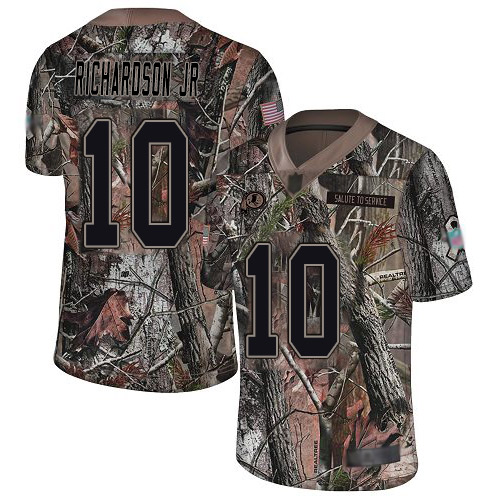 Redskins #10 Paul Richardson Jr Camo Men's Stitched Football Limited Rush Realtree Jersey