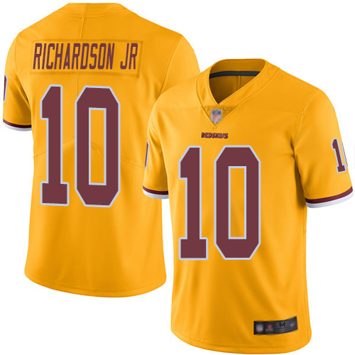 Redskins #10 Paul Richardson Jr Gold Men's Stitched Football Limited Rush Jersey