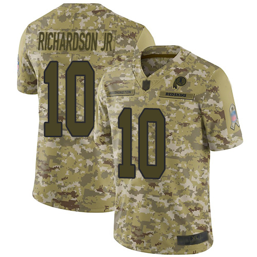 Redskins #10 Paul Richardson Jr Camo Men's Stitched Football Limited 2018 Salute To Service Jersey