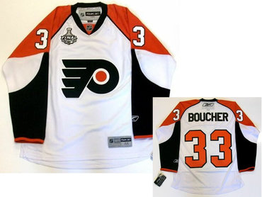 Philadelphia Flyers #33 Brian Boucher 2009-10 Stanley Cup Finals Game White Jersey