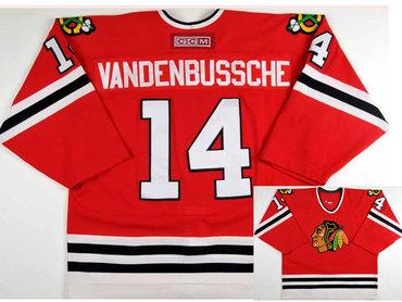 Men's Chicago Blackhawks #14 Ryan Vandenbussche CCM Throwback NHL Hockey Jersey