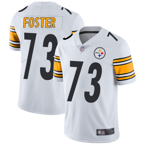 Men's Pittsburgh Steelers #73 Ramon Foster White Vapor untouchable Stitched NFL Nike Limited Jersey
