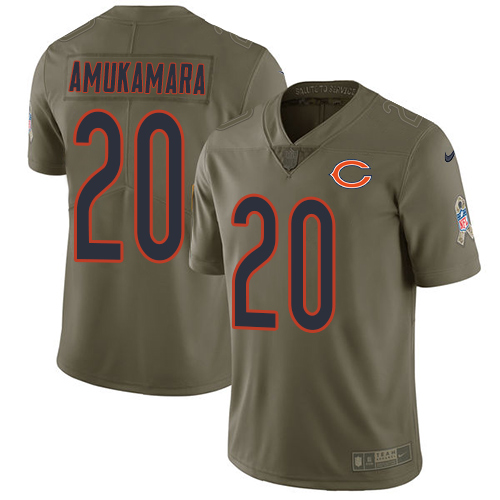 Nike Bears 20 Prince Amukamara Olive Salute To Service Limited Jersey