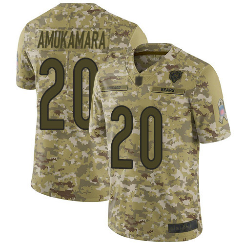 #20 Chicago Bears Prince Amukamara Limited Men's Camo Jersey