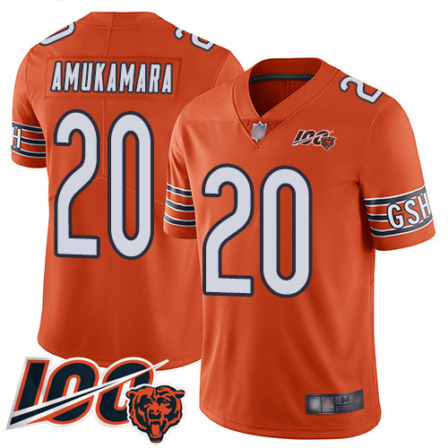 #20 Chicago Bears Prince Amukamara Limited Men's Alternate Orange