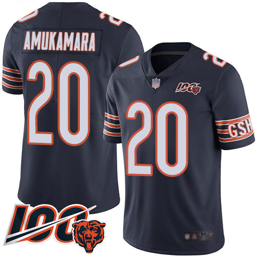 #20 Chicago Bears Prince Amukamara Limited Men's Home Navy Blue