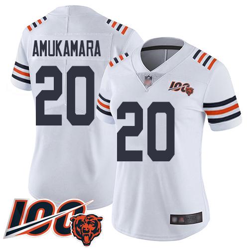 Chicago Bears Prince Amukamara Women's Limited White Jersey #20 Football 100th Season