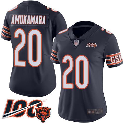 Chicago Bears Prince Amukamara Women's Limited Navy Blue Jersey  #20 Football 100th Season Home