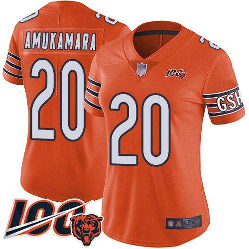Chicago Bears Prince Amukamara Women's Limited Orange Jersey #20 Football 100th Season Alternate