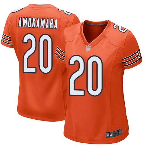 Chicago Bears Prince Amukamara Women's Game Orange Jersey #20 Football Alternate