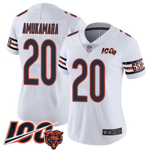 Chicago Bears Prince Amukamara Women's Limited White Jersey #20 Football Vapor Untouchable 100th