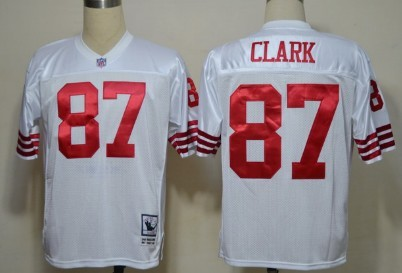 San Francisco 49ers #87 Dwight Clark White Throwback Jersey