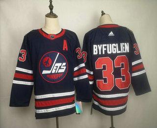Men's Winnipeg Jets #33 Dustin Byfuglien Navy Blue 2019 Heritage Classic Adidas Stitched NHL Jersey