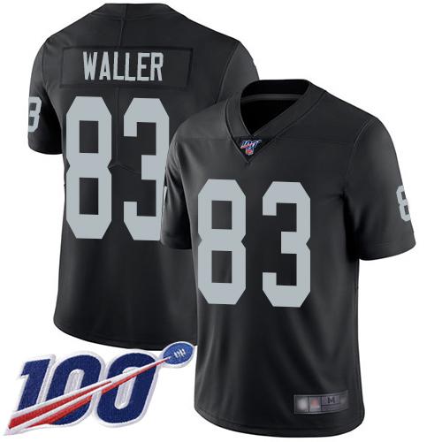 Nike Oakland Raiders Men's #83 Darren Waller Black Limited Jersey Football