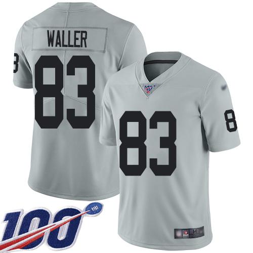 Nike Oakland Raiders Men's #83 Darren Waller Grey Limited Jersey Football
