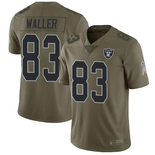 Nike Raiders Men's #83 Darren Waller Limited Jersey Football Oakland1