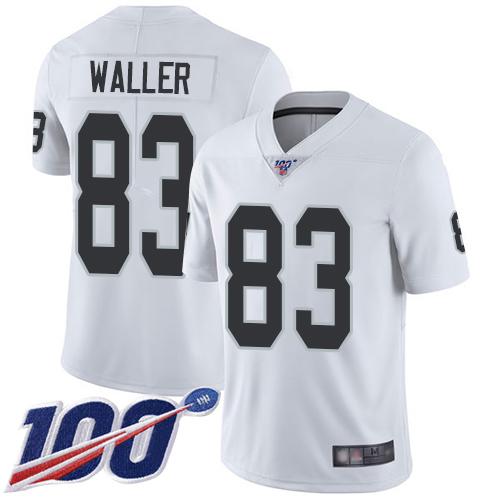 Nike Oakland Raiders Men's #83 Darren Waller White Limited Jersey Football