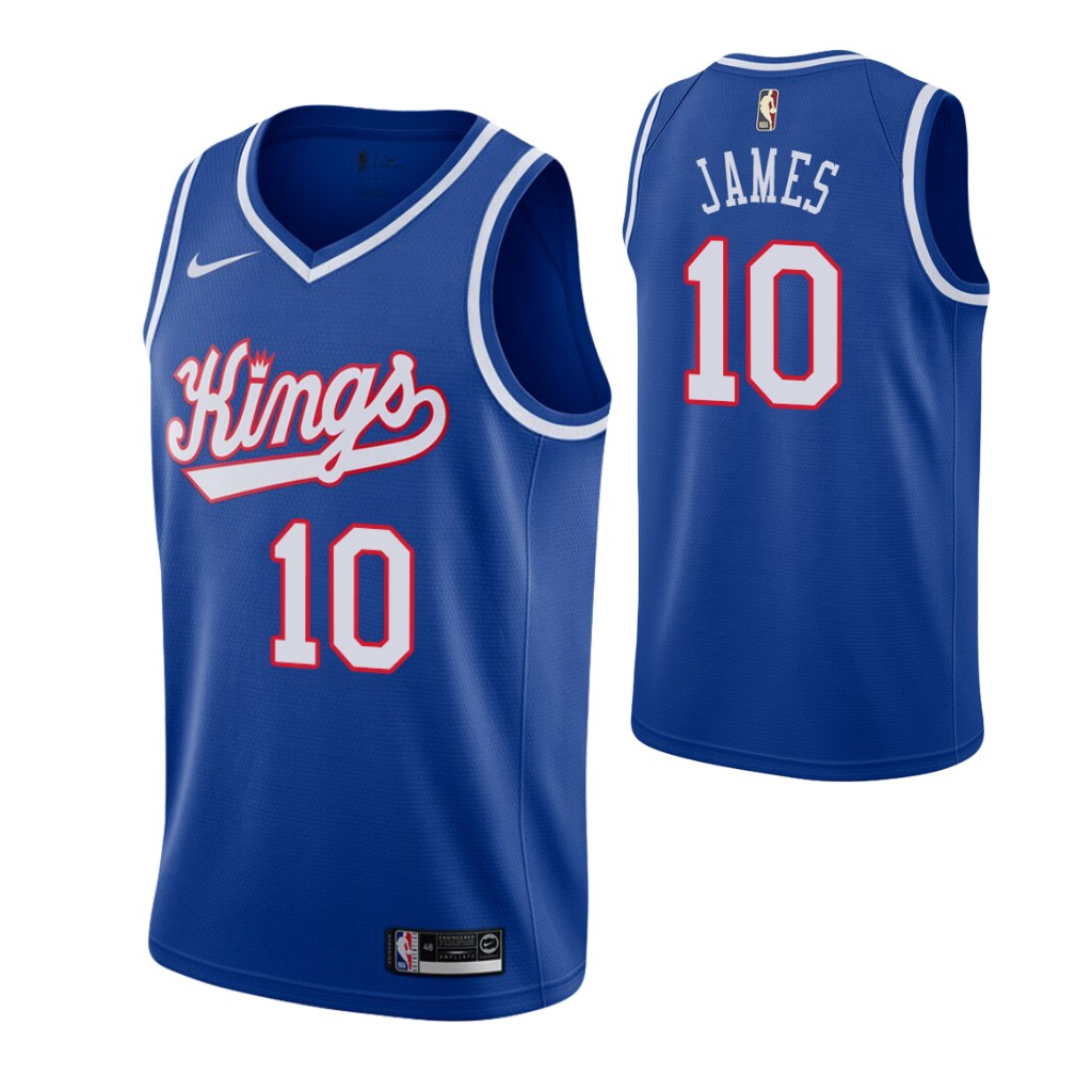 Men's Sacramento Kings #10 Justin James Blue 2019-20 Hardwood Classics Jersey