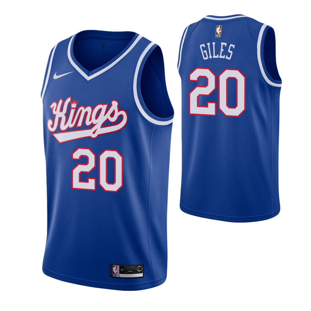 Men's Sacramento Kings #20 Harry Giles Blue 2019-20 Hardwood Classics Jersey