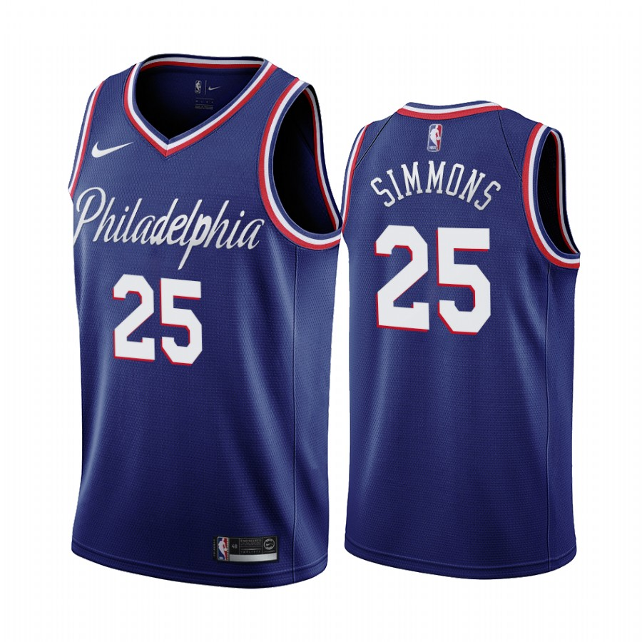 Nike 76ers #25 Ben Simmons Navy 2019-20 City Edition Swingman NBA Jersey