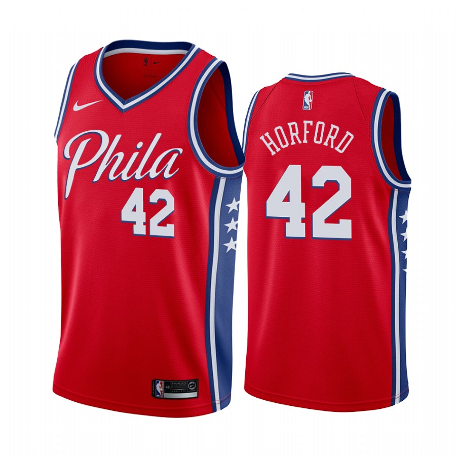 Nike 76ers #42 Al Horford Red 2019-20 Statement Edition NBA Jersey