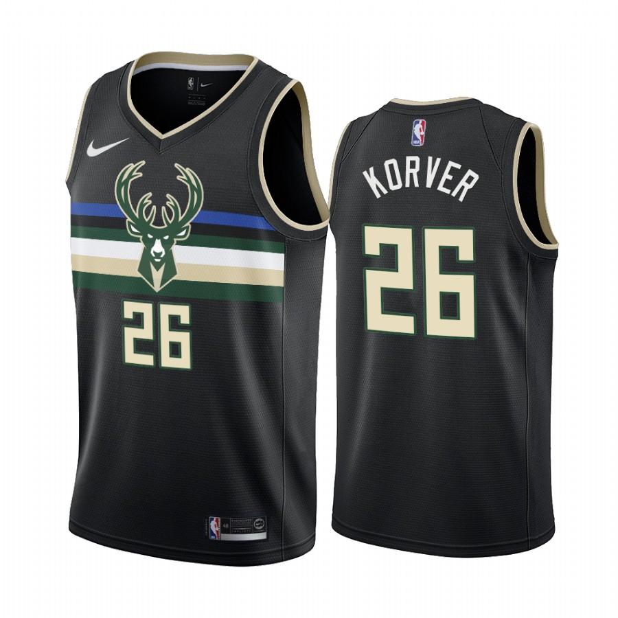 Nike Bucks #26 Kyle Korver Black 2019-20 Statement Edition NBA Jersey