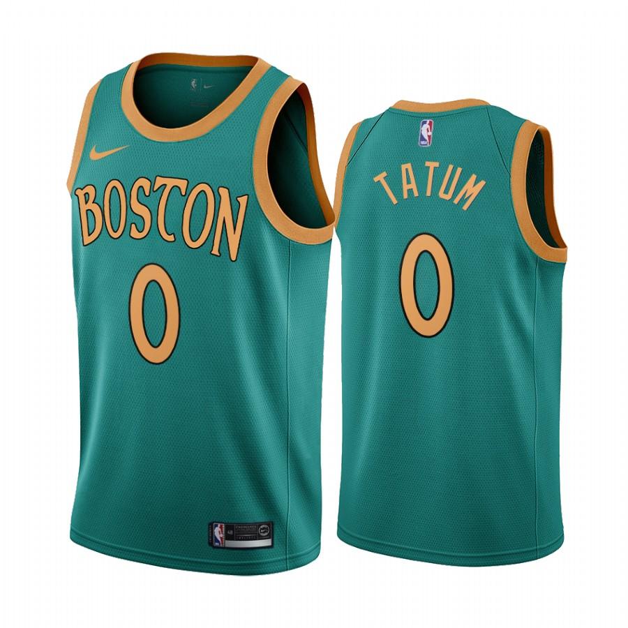 Nike Celtics #0 Jayson Tatum Green 2019-20 City Edition NBA Jersey