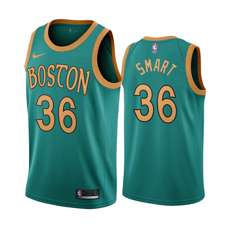 Nike Celtics #36 Marcus Smart Green 2019-20 City Edition NBA Jersey