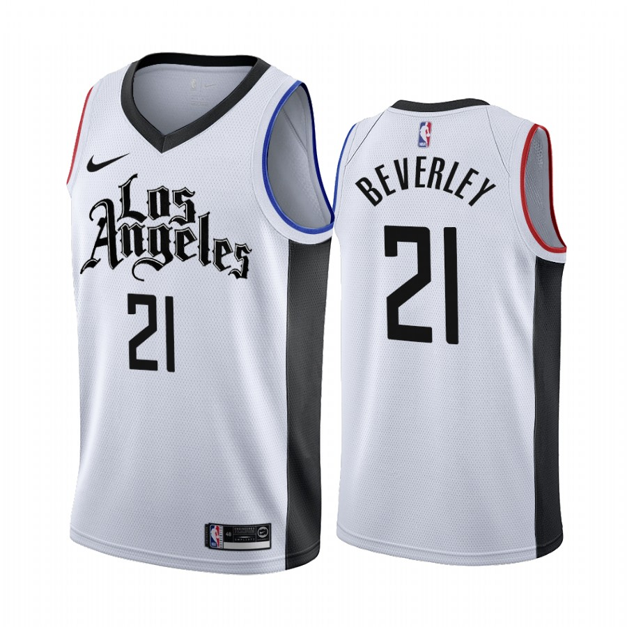 Nike Clippers #21 Patrick Beverley 2019-20 White Los Angeles City Edition NBA Jersey