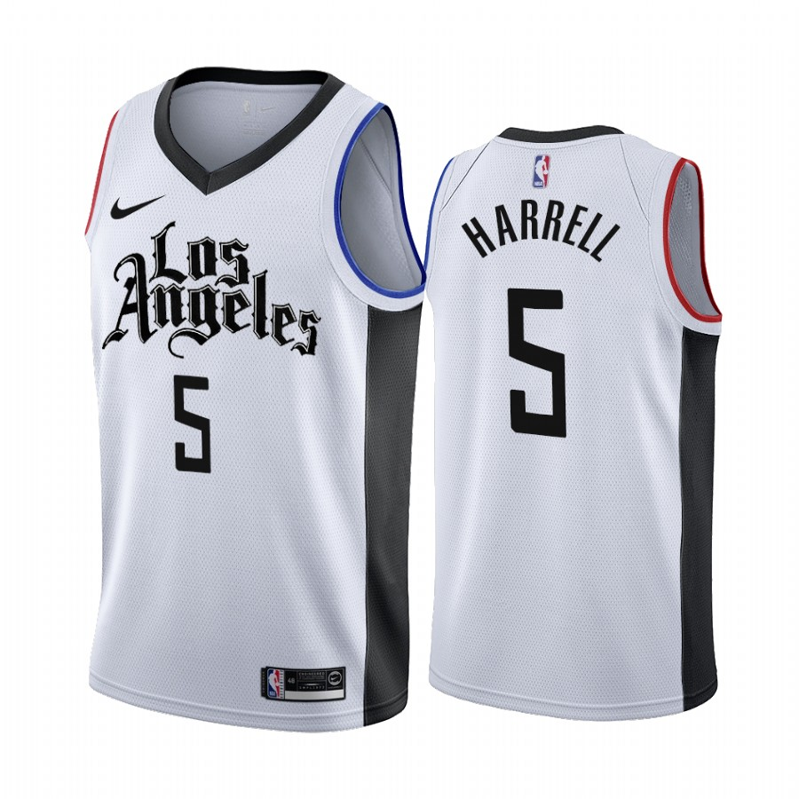 Nike Clippers #5 Montrezl Harrell 2019-20 White Los Angeles City Edition NBA Jersey