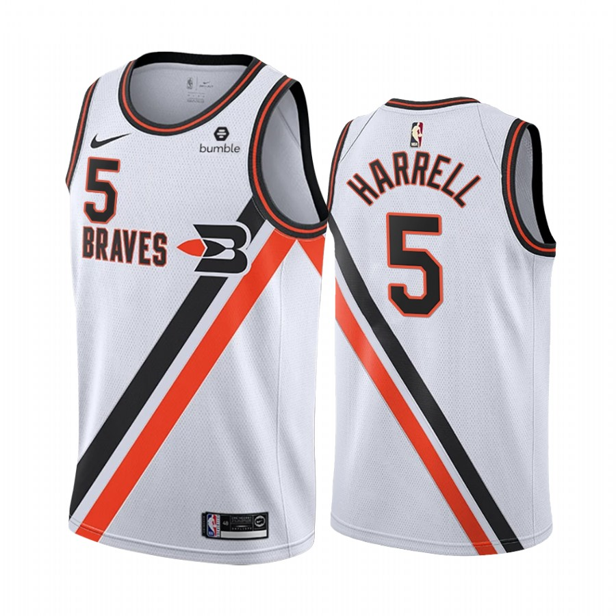Nike Clippers #5 Montrezl Harrell White 2019-20 Classic Edition Stitched NBA Jersey