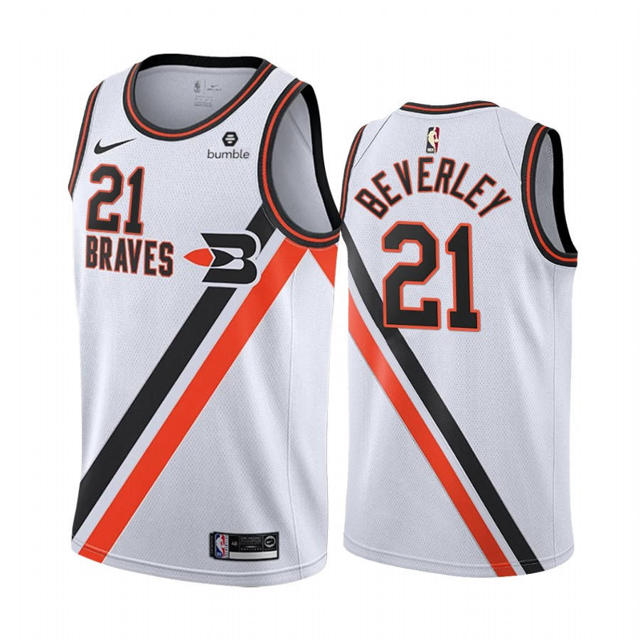 Nike Clippers #21 Patrick Beverley White2019-20 Classic Edition Stitched NBA Jersey