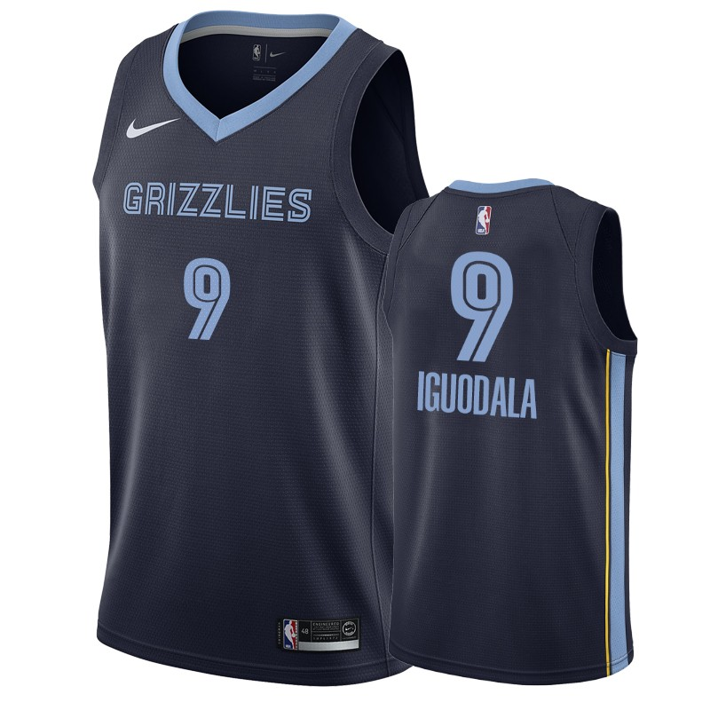 Nike Grizzlies #9 Andre Iguodala Navy Blue Icon Edition Men's NBA Jersey