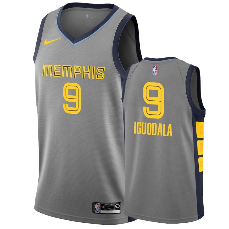 Nike Grizzlies #9 Andre Iguodala Gray City Edition Men's NBA Jersey
